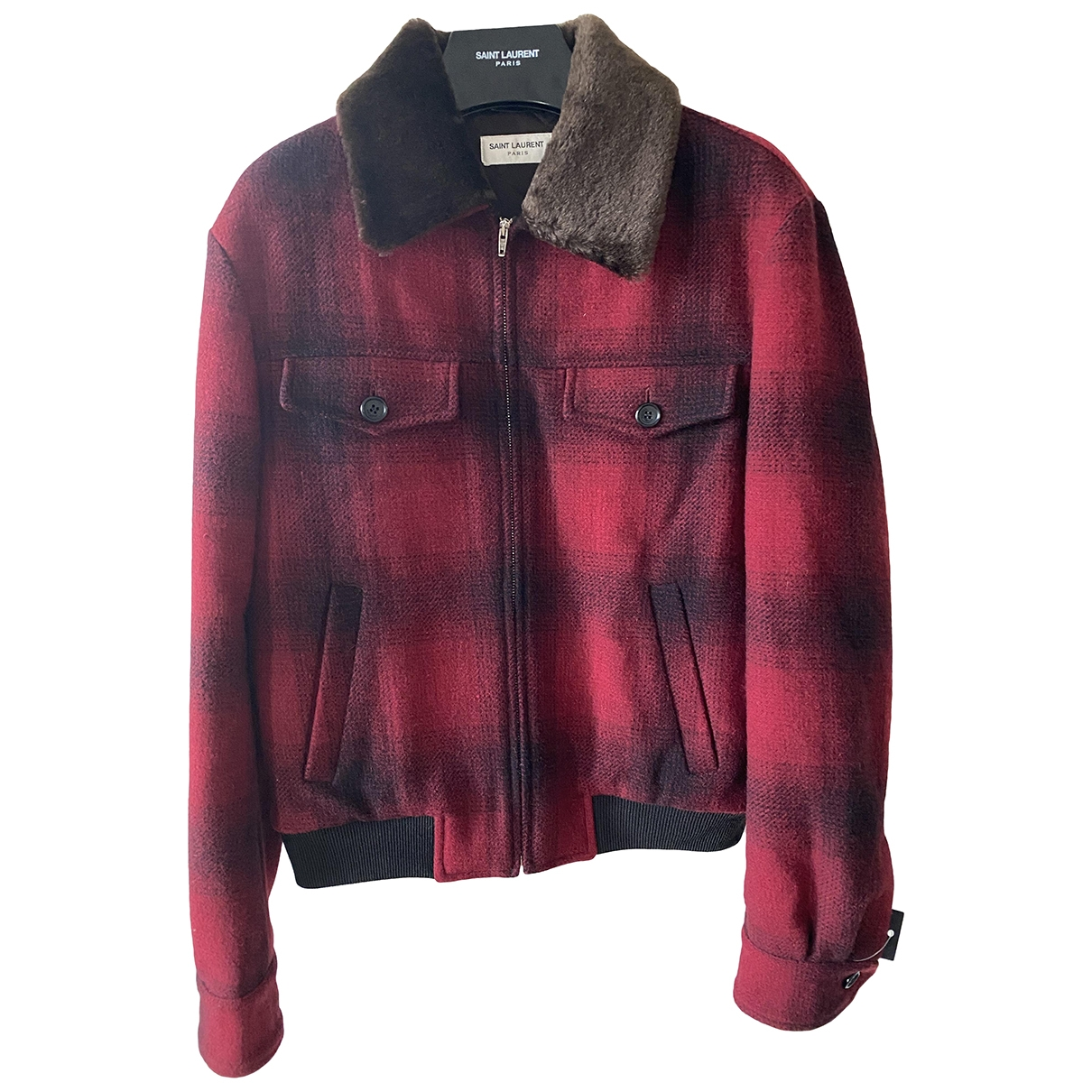 Saint Laurent \N Red Wool jacket  for Men 48 FR