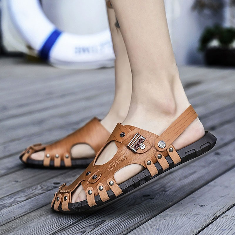 Ericdress Low-Cut Upper Flat Heel Slip-On Rivet Sandals