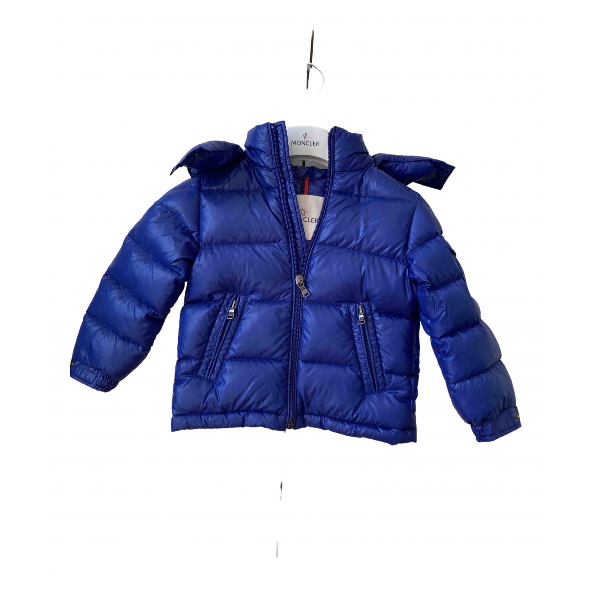 Moncler Hood Blue jacket & coat for Kids 2 years - up to 86cm FR