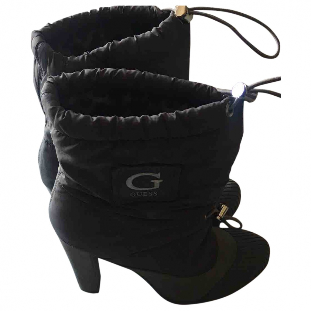 Guess \N Grey Cloth Boots for Women 39 IT