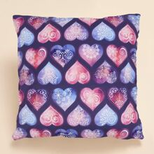 Mandala Heart Cushion Cover Without Filler