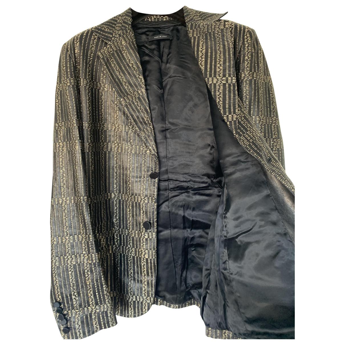 Gucci \N Black Leather jacket  for Men 48 FR