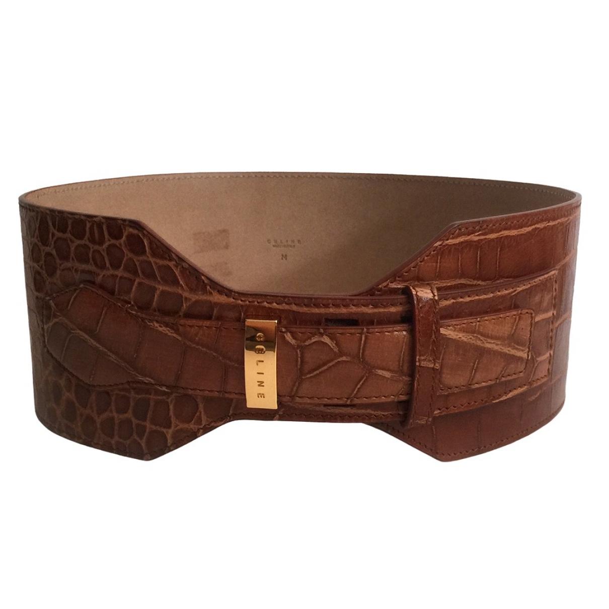 Celine \N Camel Leather belt for Women M International