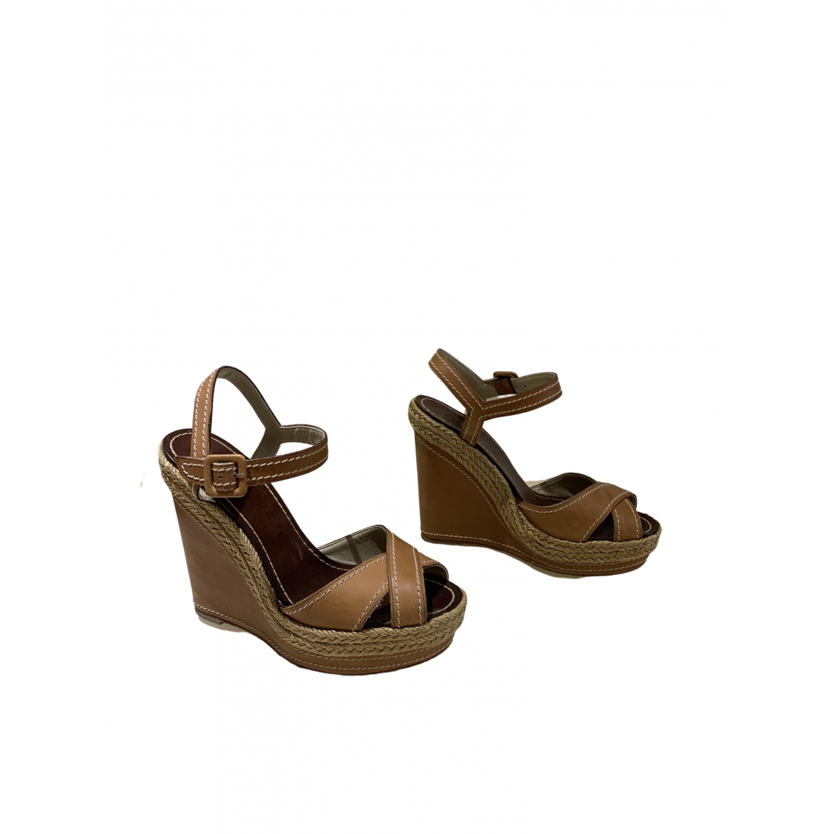 Christian Louboutin \N Beige Leather Sandals for Women 37 EU