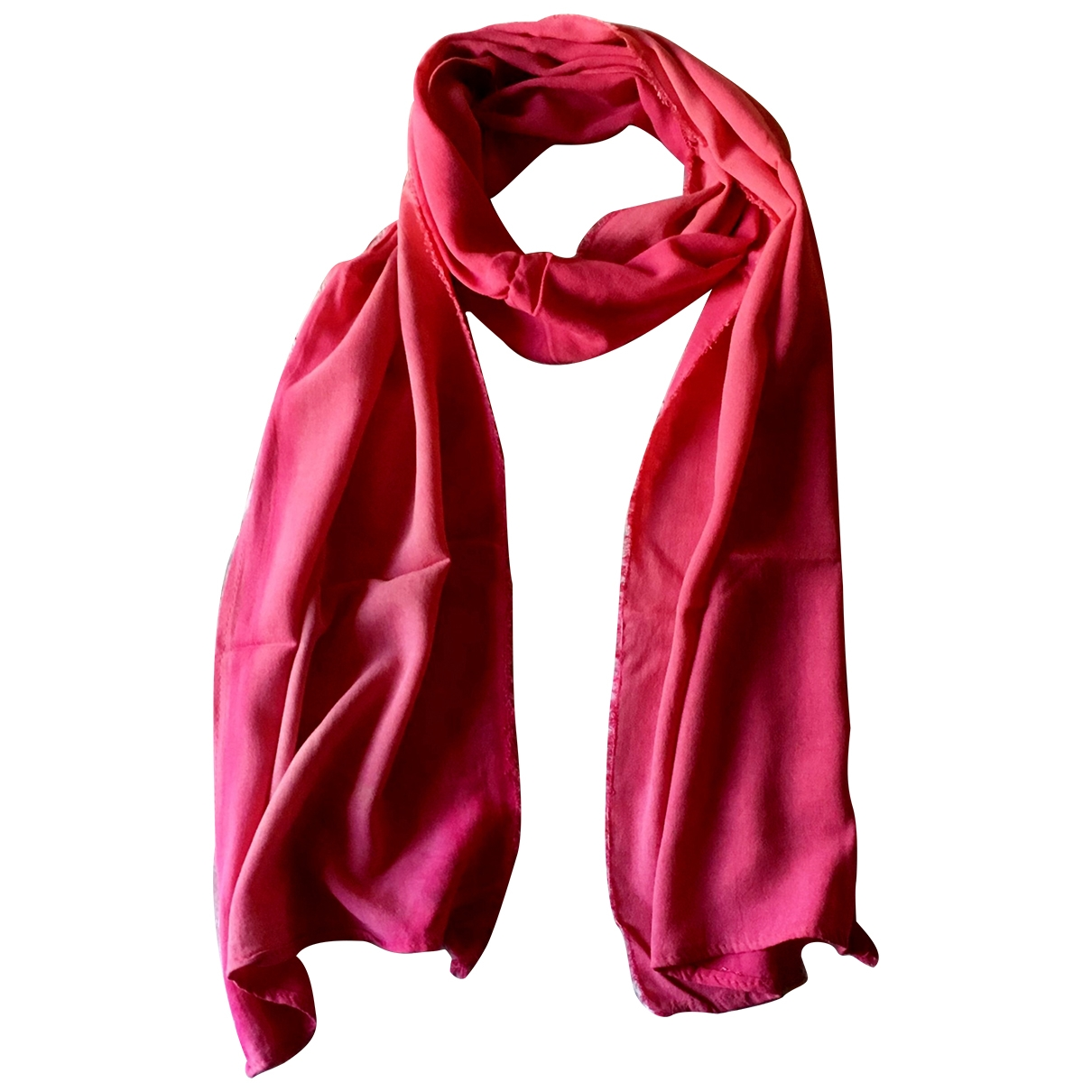 Non Signé / Unsigned \N Pink Cotton scarf for Women \N
