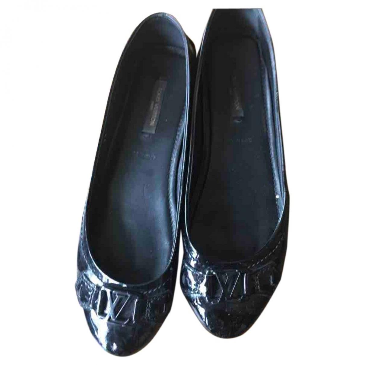 Louis Vuitton \N Black Patent leather Ballet flats for Women 37 EU