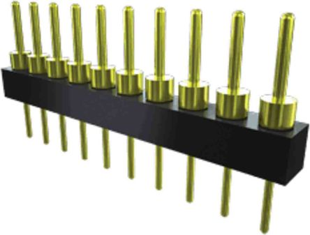 Samtec , TS, 3 Way, 1 Row, Straight PCB Header