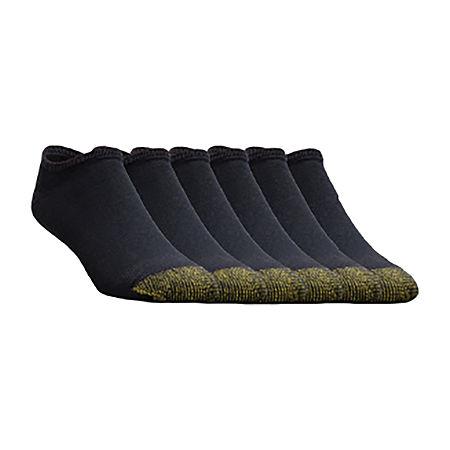 Gold Toe 6-pk. Athletic No Show Socks - Extended Sizes, 13-15 , Black