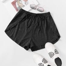 Solid Knot Front Dolphin Shorts