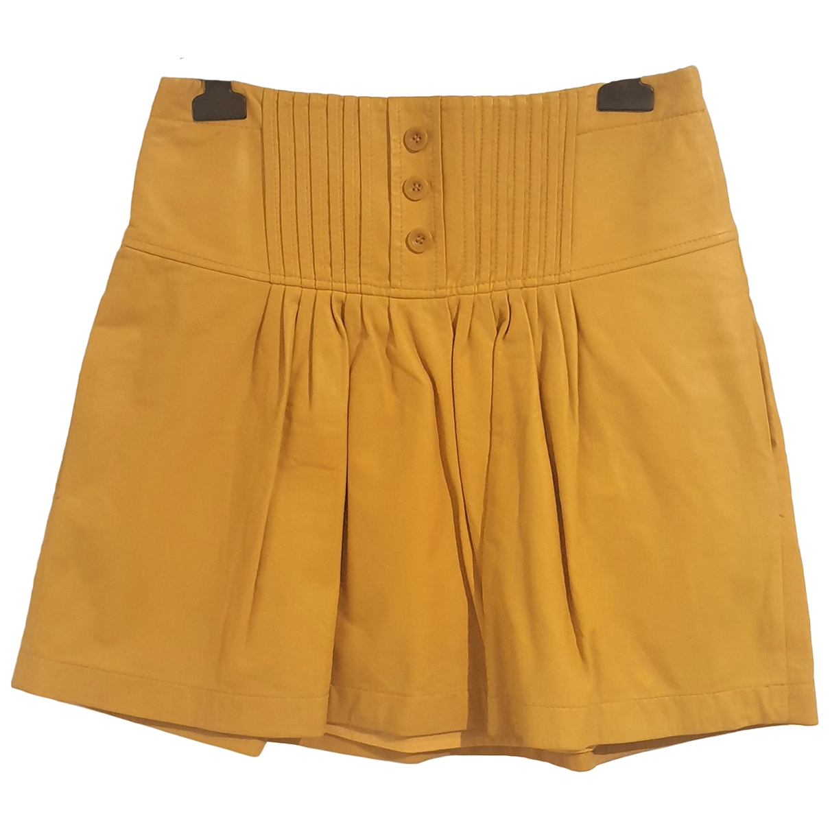 See By Chloé \N Yellow Leather skirt for Women 38 FR