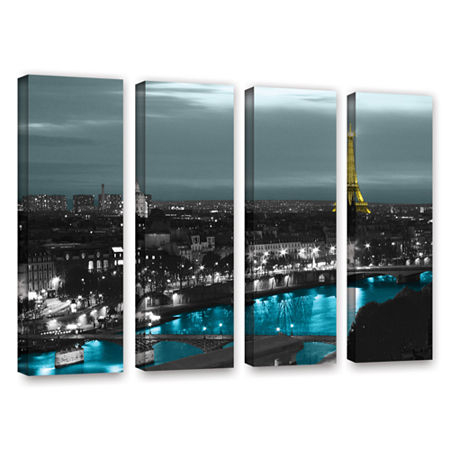 Brushstone Paris 4-pc. Gallery Wrapped Canvas WallArt, One Size , Blue