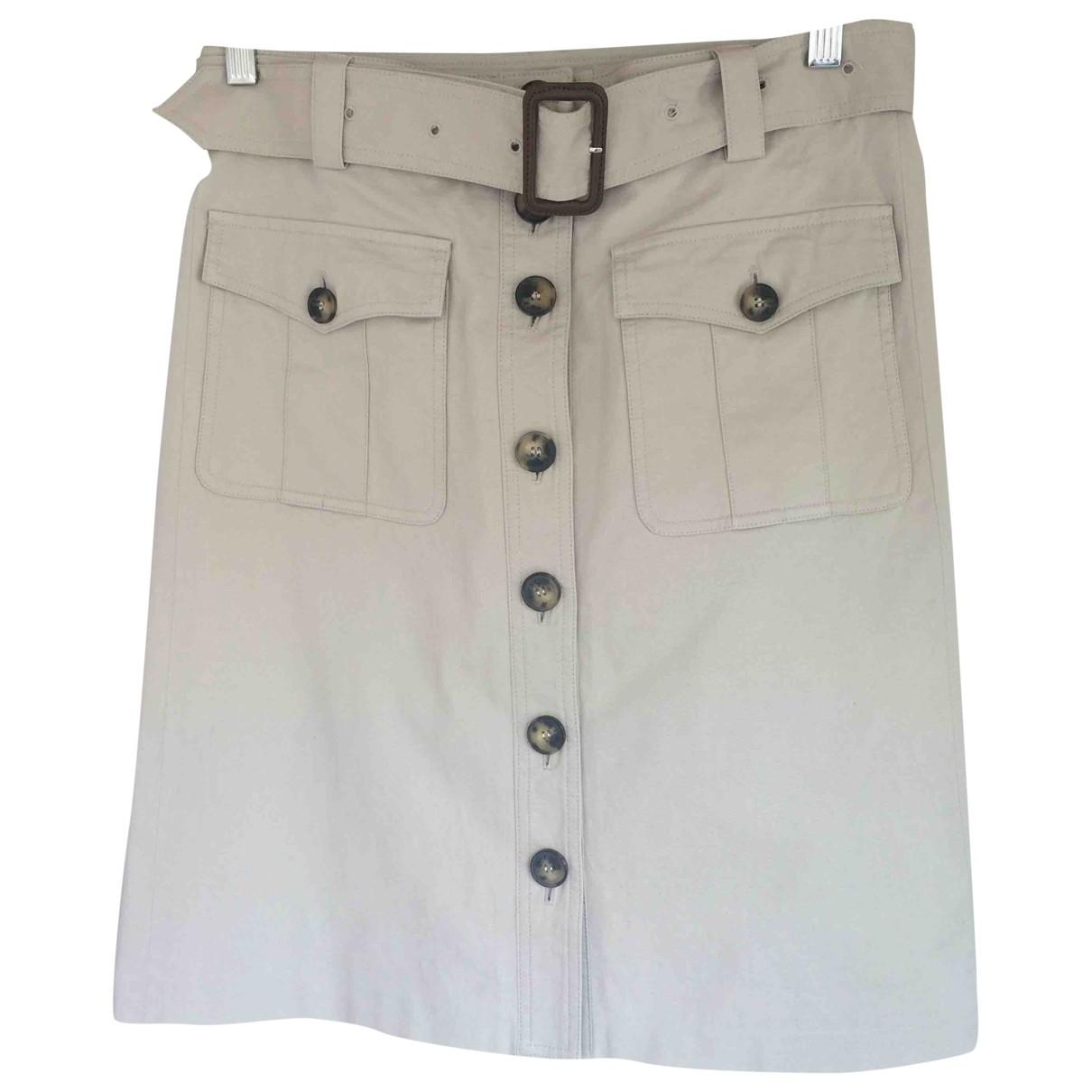 Burberry \N Beige Cotton skirt for Women 38 FR