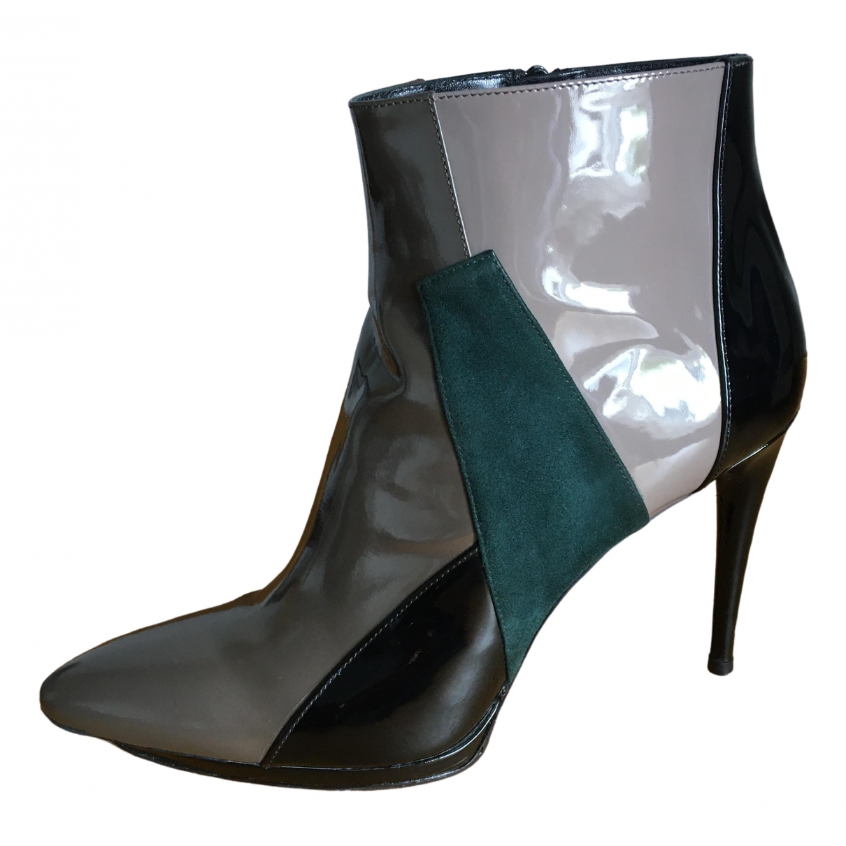 Balenciaga \N Multicolour Patent leather Ankle boots for Women 40 EU