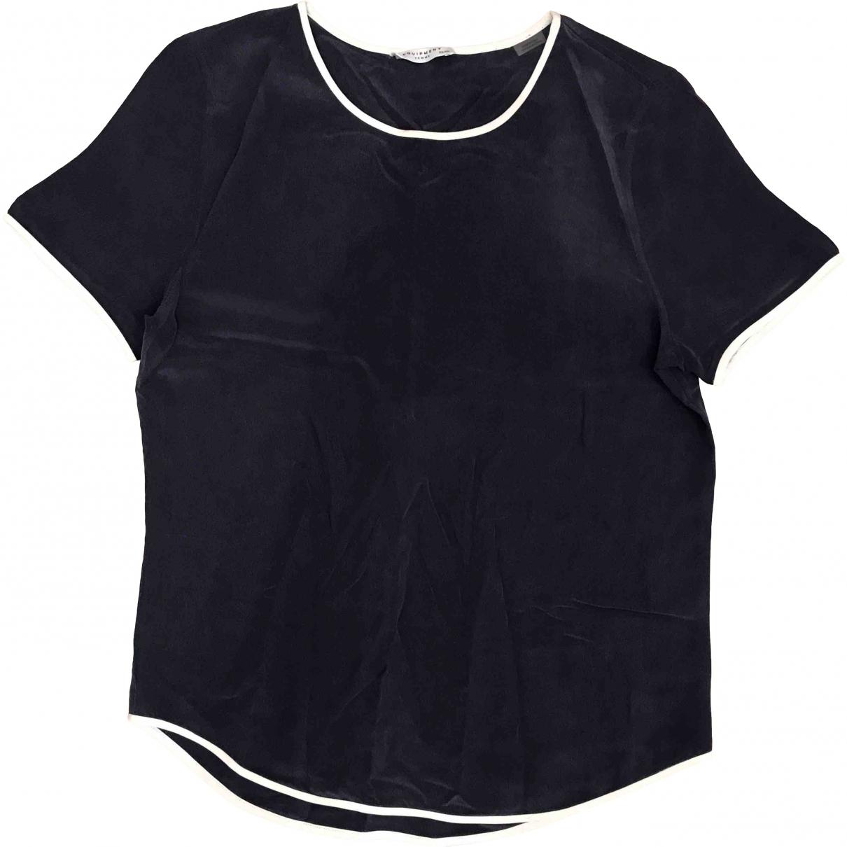 Equipment \N Blue Silk  top for Women XS International