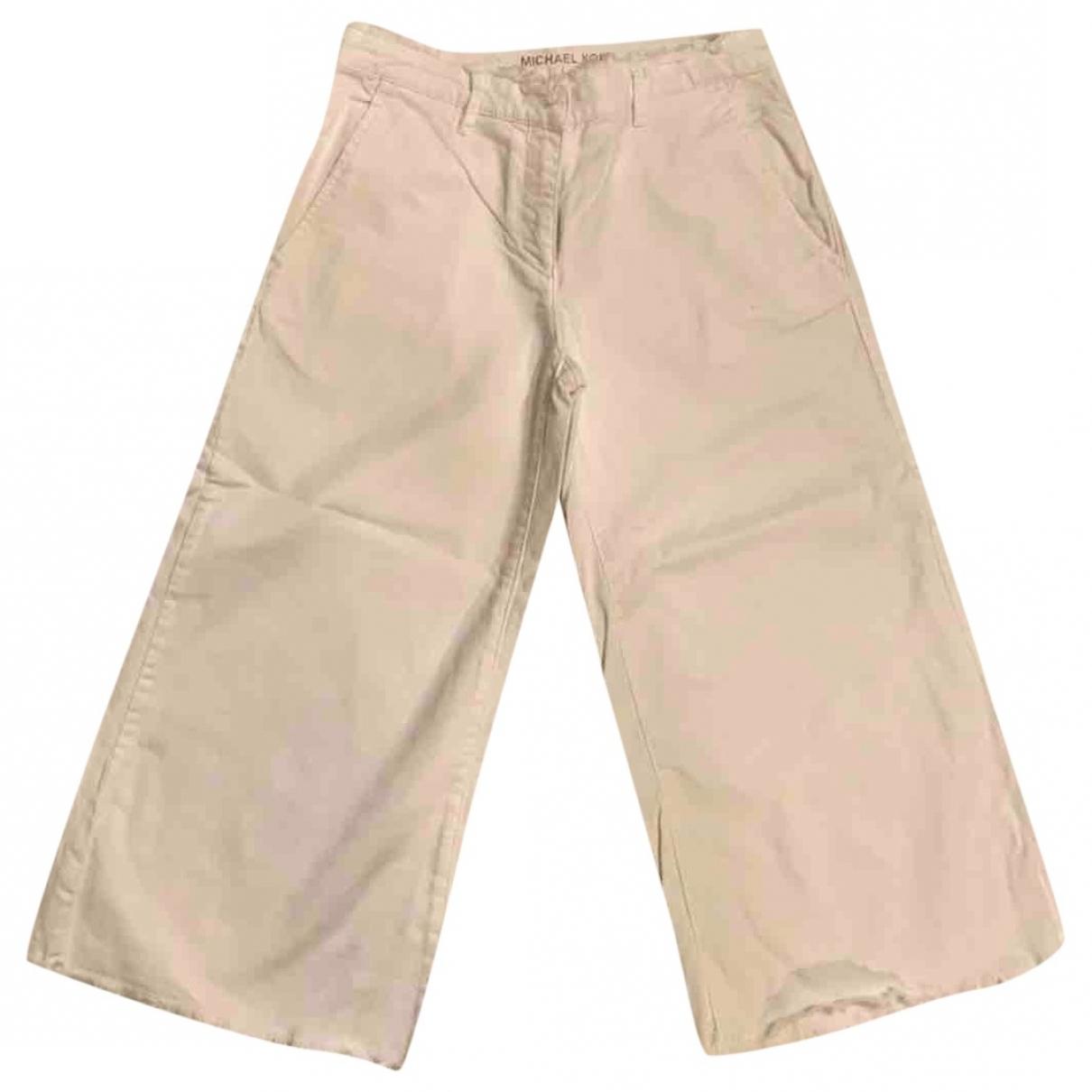 Michael Kors \N White Denim - Jeans Trousers for Women 2 0-5