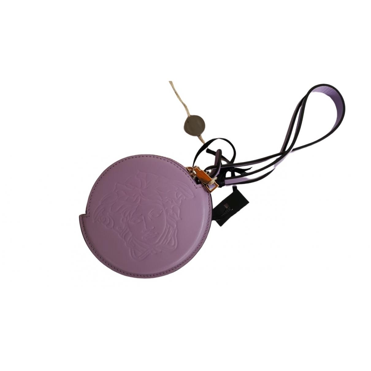 Versace \N Purple Leather Purses, wallet & cases for Women \N