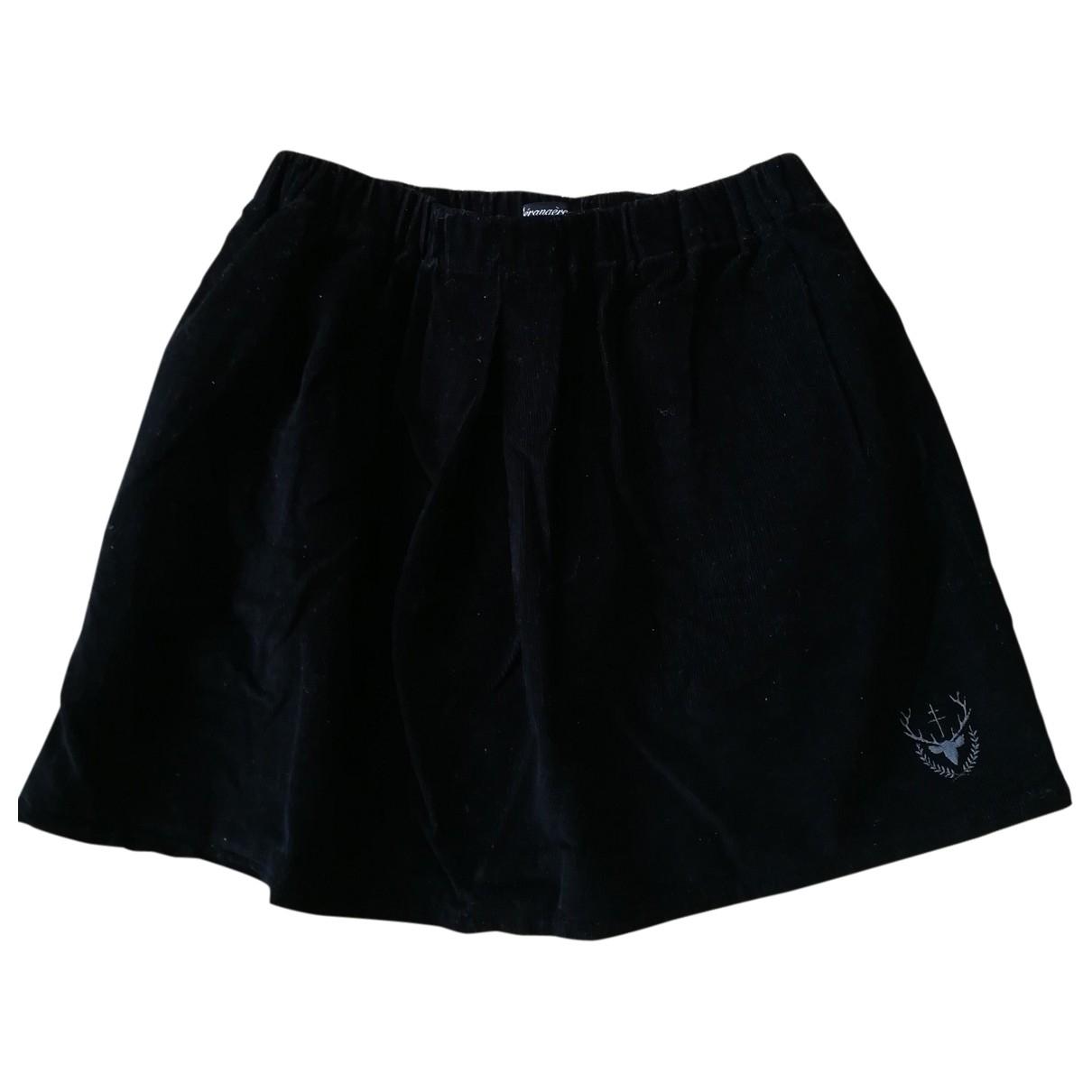 Bérangère Claire \N Black Velvet skirt for Women 36 FR