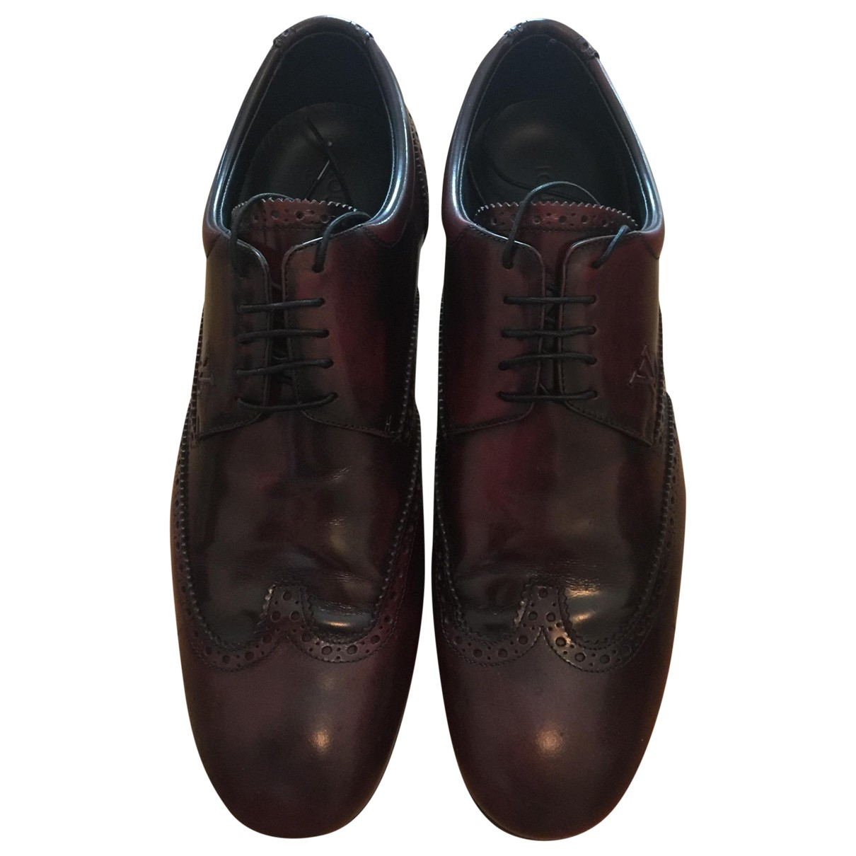 Louis Vuitton \N Burgundy Leather Lace ups for Men 8 US