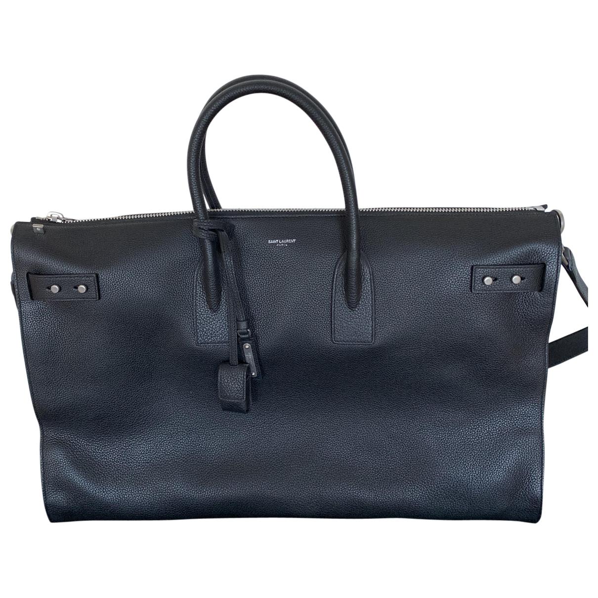Saint Laurent Sac de Jour 48H Black Leather bag for Men \N