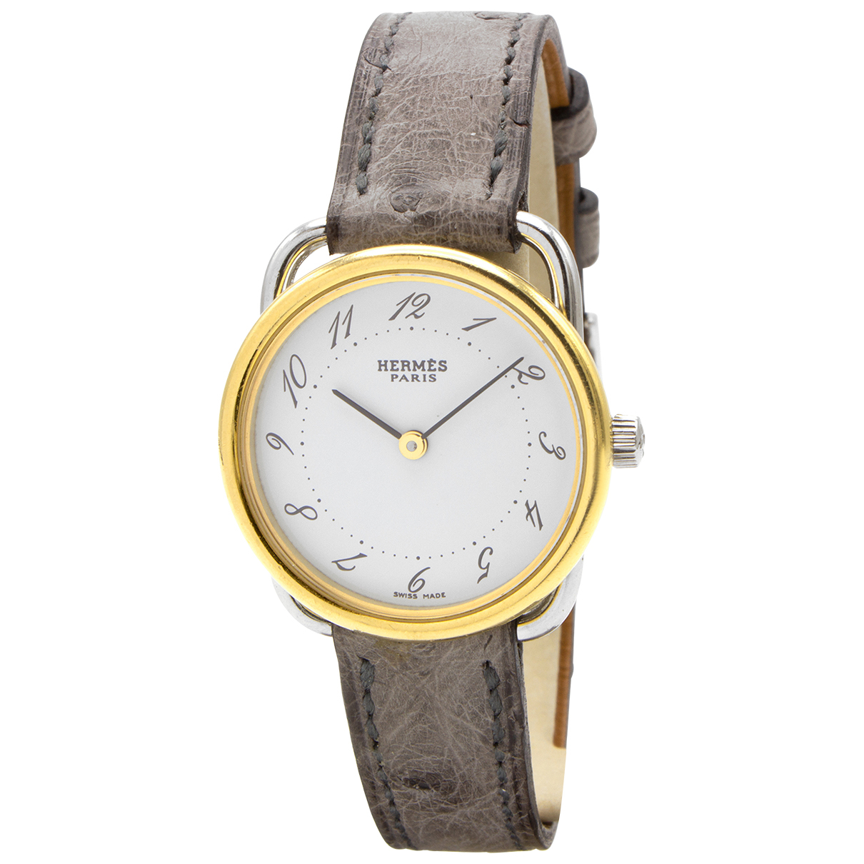 Hermès Arceau Gold Gold plated watch for Women N