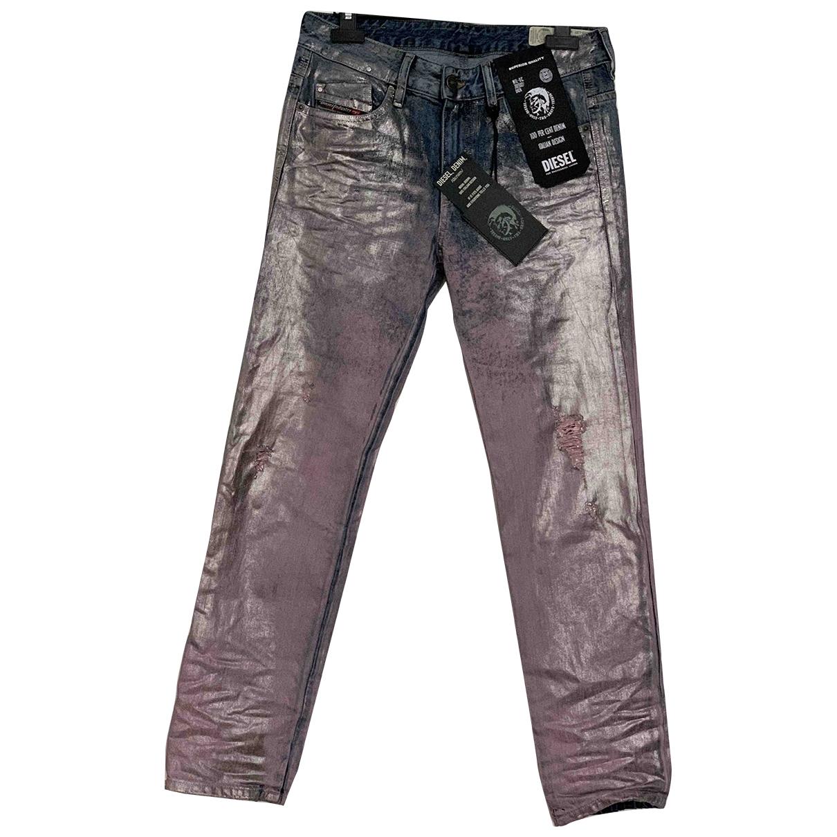 Diesel \N Metallic Cotton Jeans for Women 32 FR