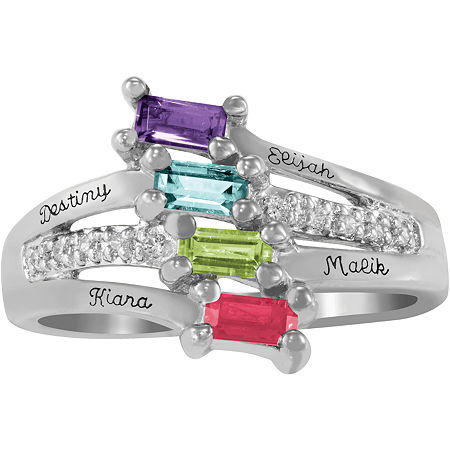 Artcarved Celebrations Of Life Multi Color Stone 10K White Gold Band, 9 1/2 , No Color Family