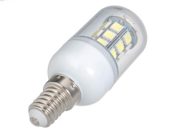 3W E14 27-LED Cool White LED Corn Bulb