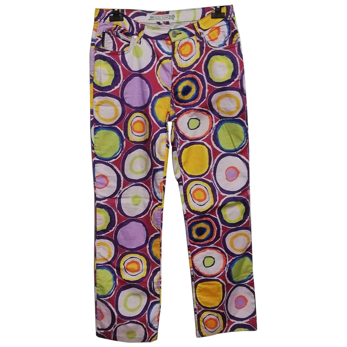 Krizia \N Multicolour Cotton Trousers for Women 44 IT