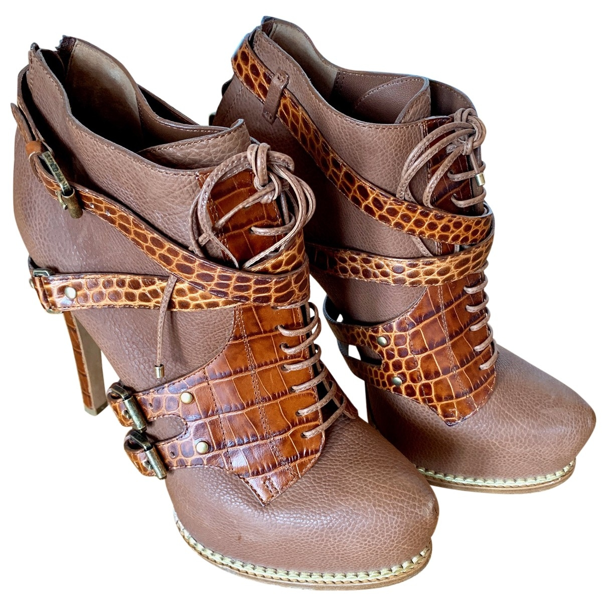Dior \N Brown Leather Ankle boots for Women 40 EU
