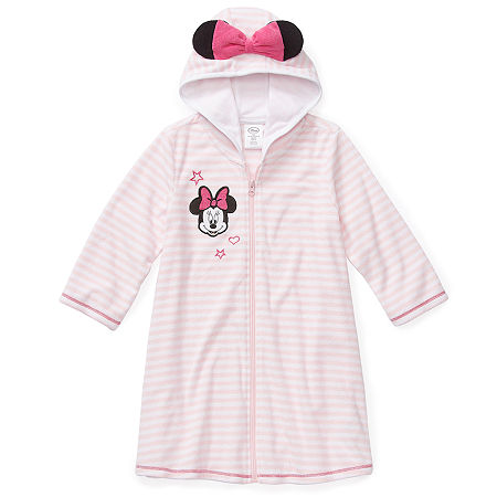 Disney Collection Little & Big Girls Minnie Mouse Swimsuit Cover-Up Dress, 4 , Pink