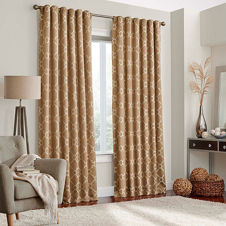 Eclipse Correll Blackout Rod-Pocket Single Curtain Panel, One Size , Brown