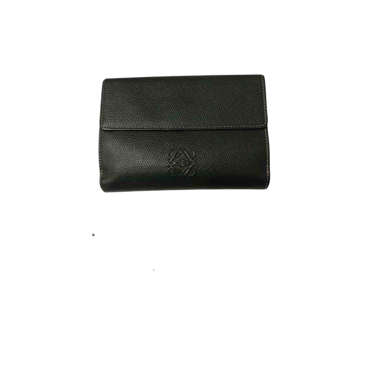 Loewe \N Green Leather wallet for Women \N
