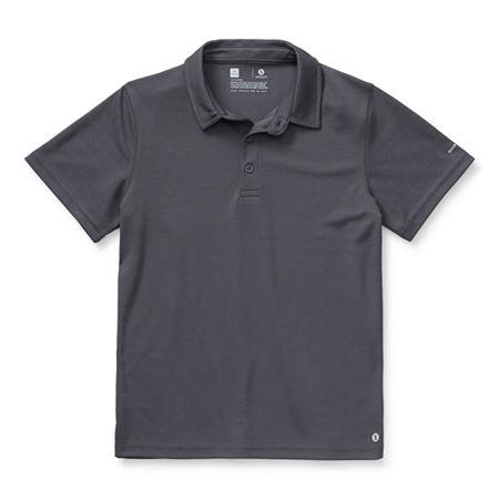 Xersion Little & Big Boys Short Sleeve Moisture Wicking Polo Shirt, X-large (18-20) , Black