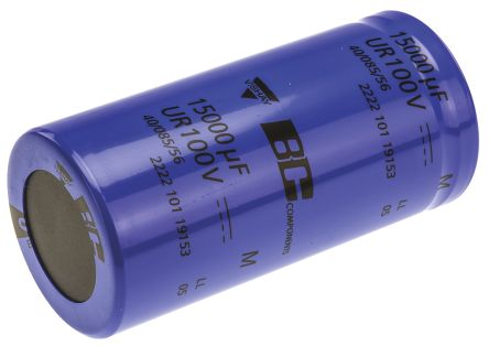 Vishay 15000μF Electrolytic Capacitor 100V dc, Screw Mount - MAL210119153E3