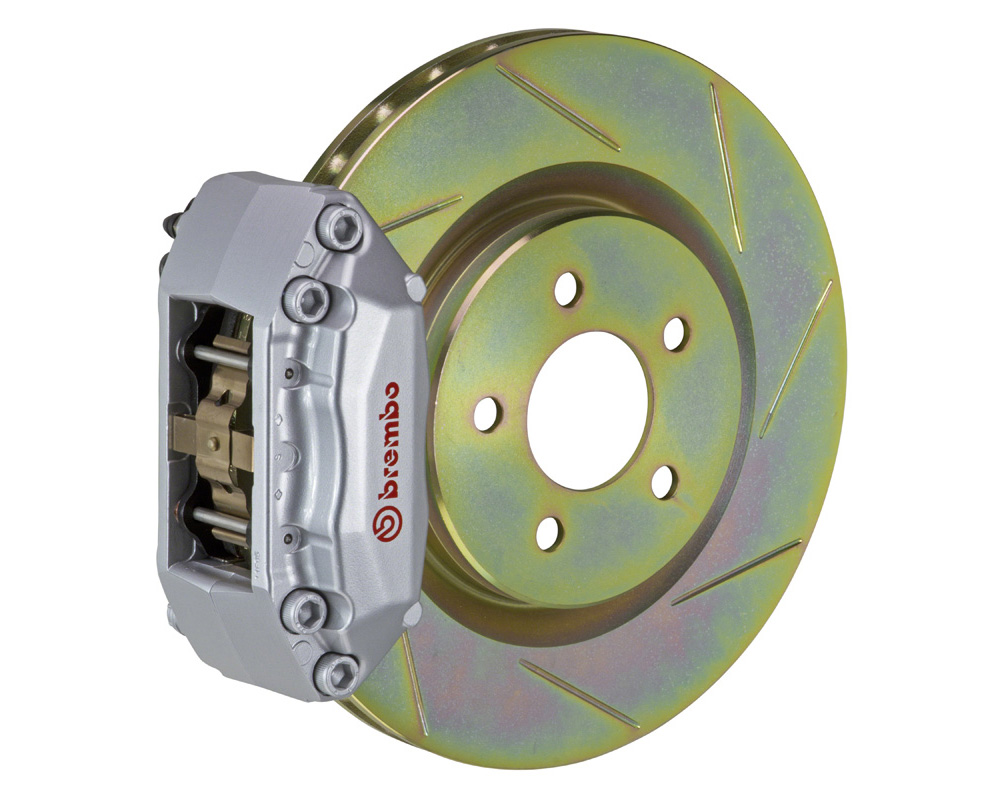 Brembo GT 305x28 1-Piece 4 Piston Silver Slotted Front Big Brake Kit