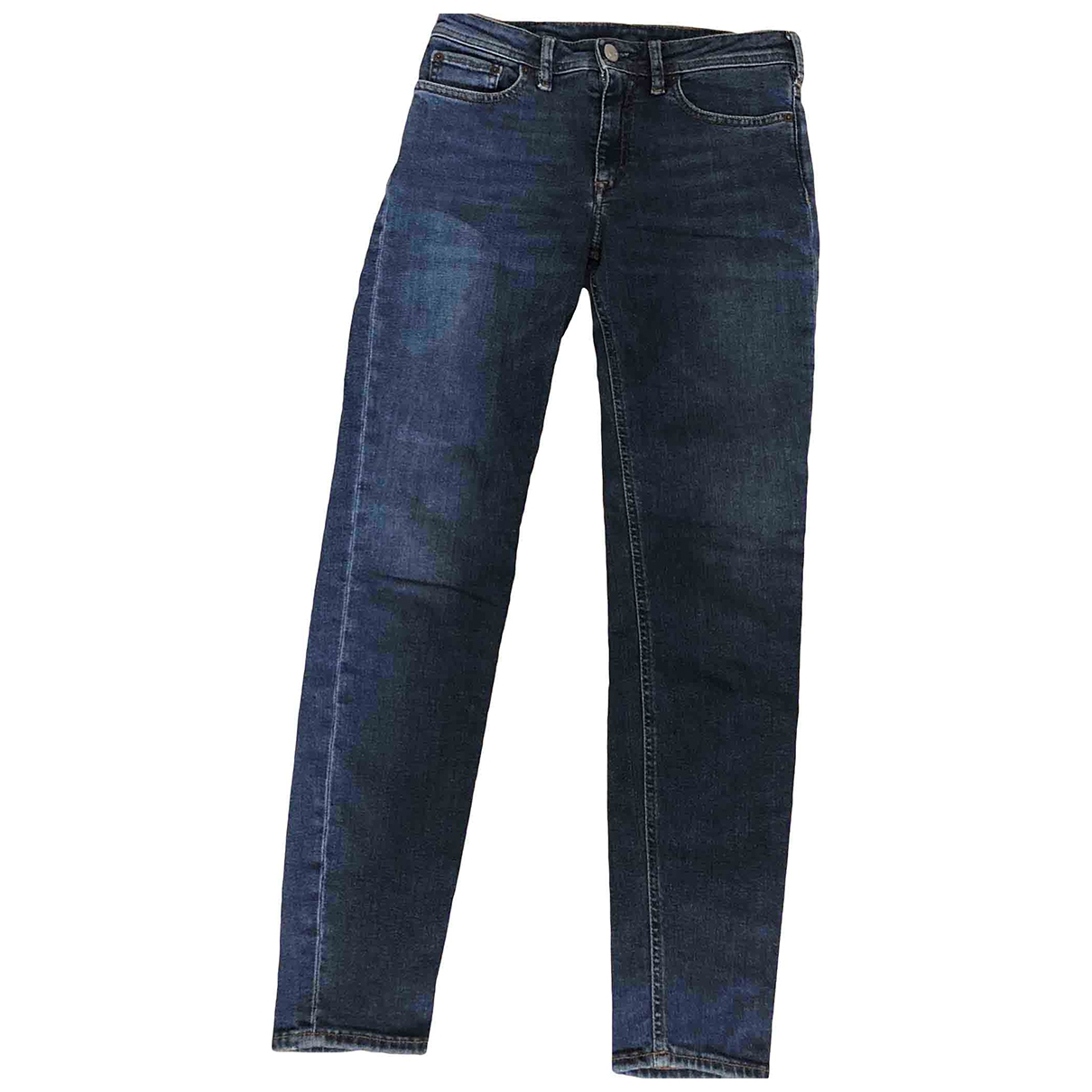 Acne Studios Blå Konst Blue Cotton - elasthane Jeans for Women 34 FR