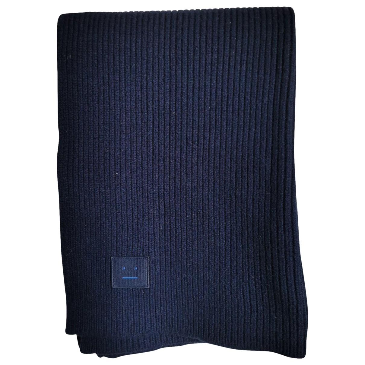 Acne Studios \N Blue Wool scarf for Women \N