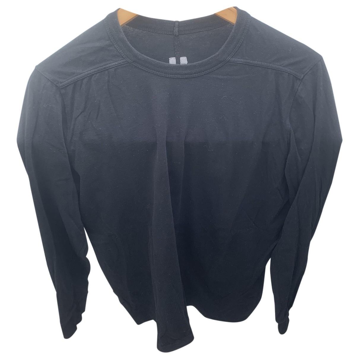 Rick Owens \N Black Cotton T-shirts for Men M International