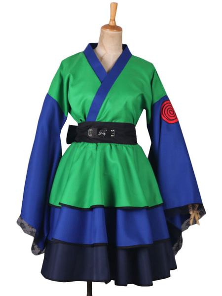 Milanoo Naruto Hatake Kakashi Cosplay Costume Girl Version Lolita Dress Halloween