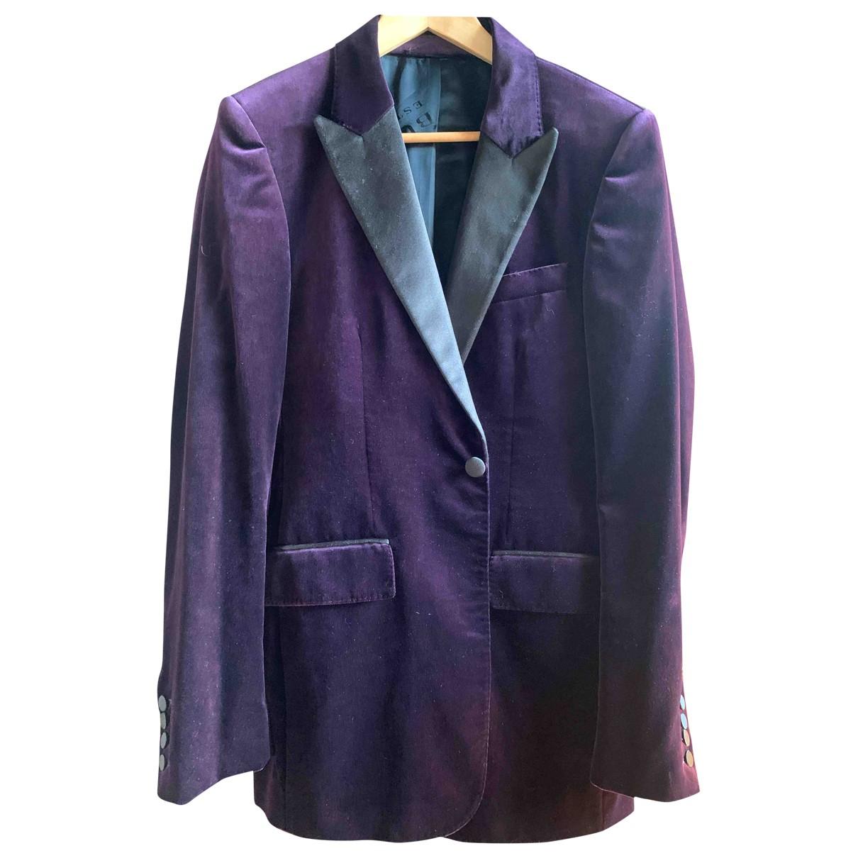 Burberry \N Purple Velvet jacket  for Men 48 IT