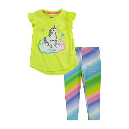 Crayola Baby Girls 2-pc. Legging Set, 18 Months , Yellow
