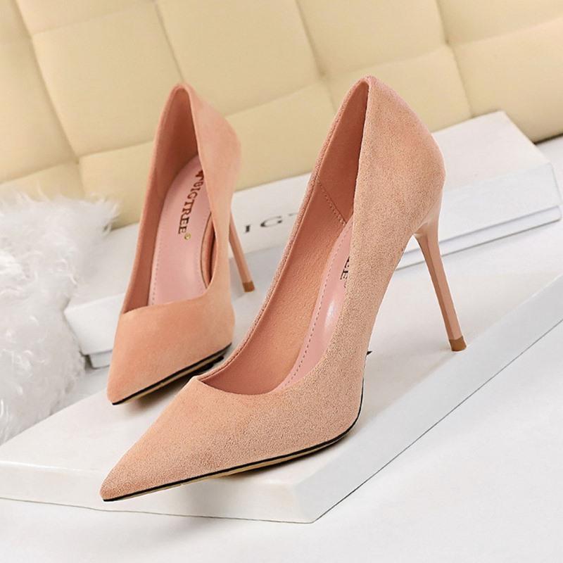 Ericdress Stiletto Heel Pointed Toe Slip-On Ultra-High Heel(≥8cm) Thin Shoes