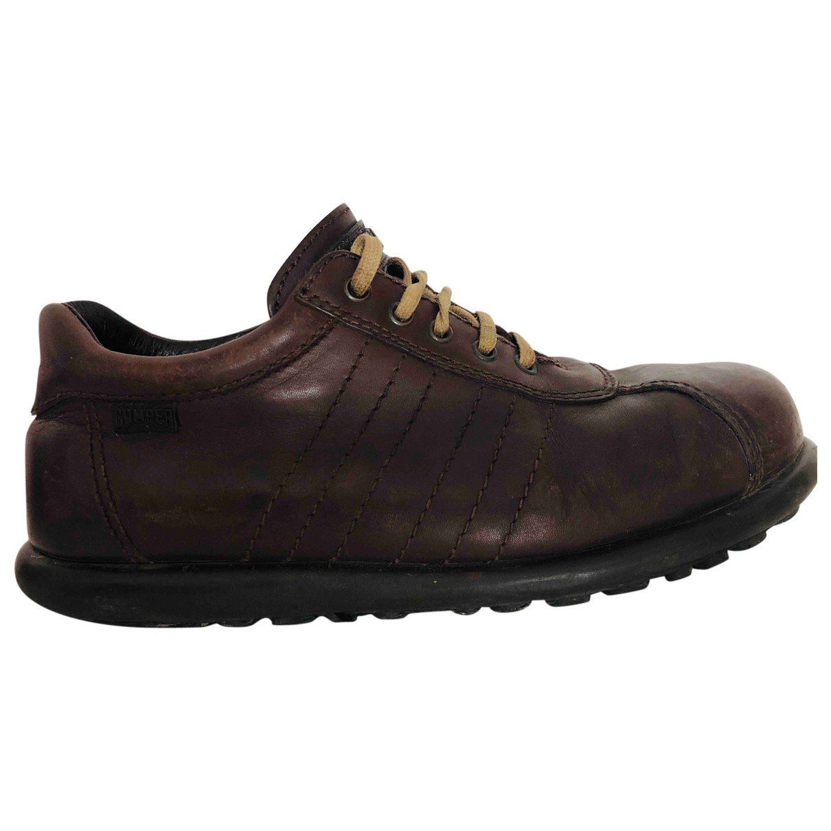 Camper \N Brown Leather Trainers for Men 42 EU