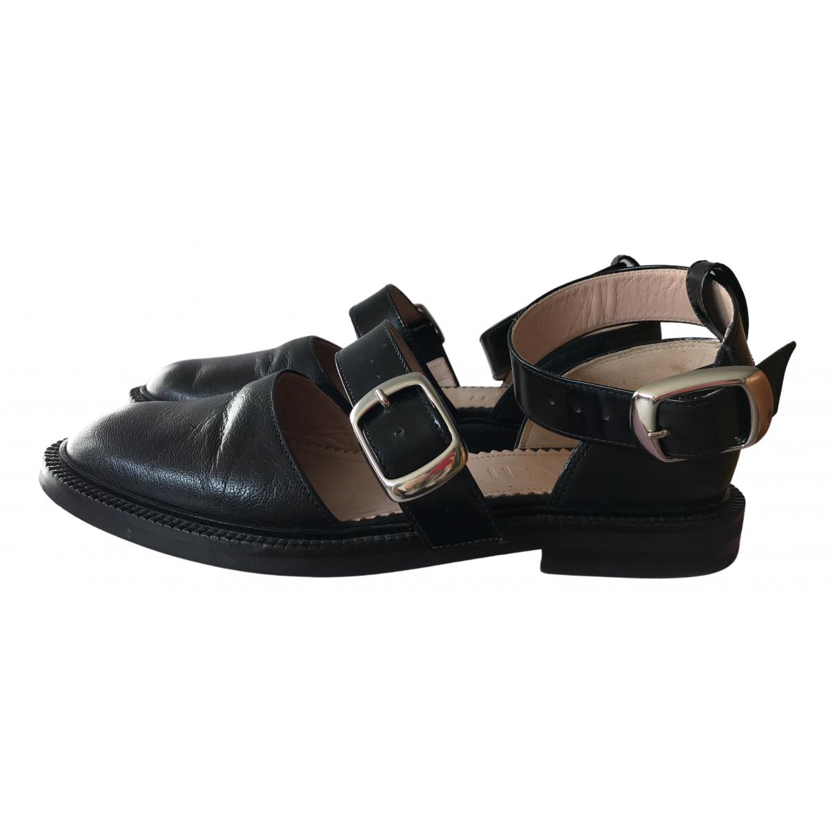 Inch2 \N Black Leather Flats for Women 37 EU