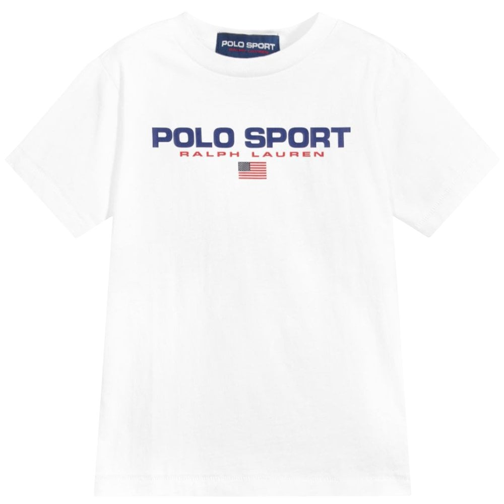 Ralph Lauren Polo Sport T-Shirt White Size: L (14-16 YEARS), Colour: W