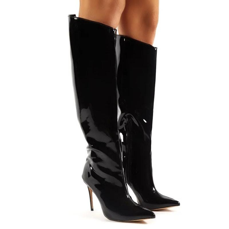 Ericdress Side Zipper Plain Stiletto Heel Thread Boots