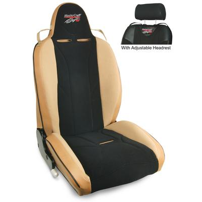 MasterCraft Safety Baja RS Reclining Front Seat with Adjustable Headrest (Tan/Black) - 514028