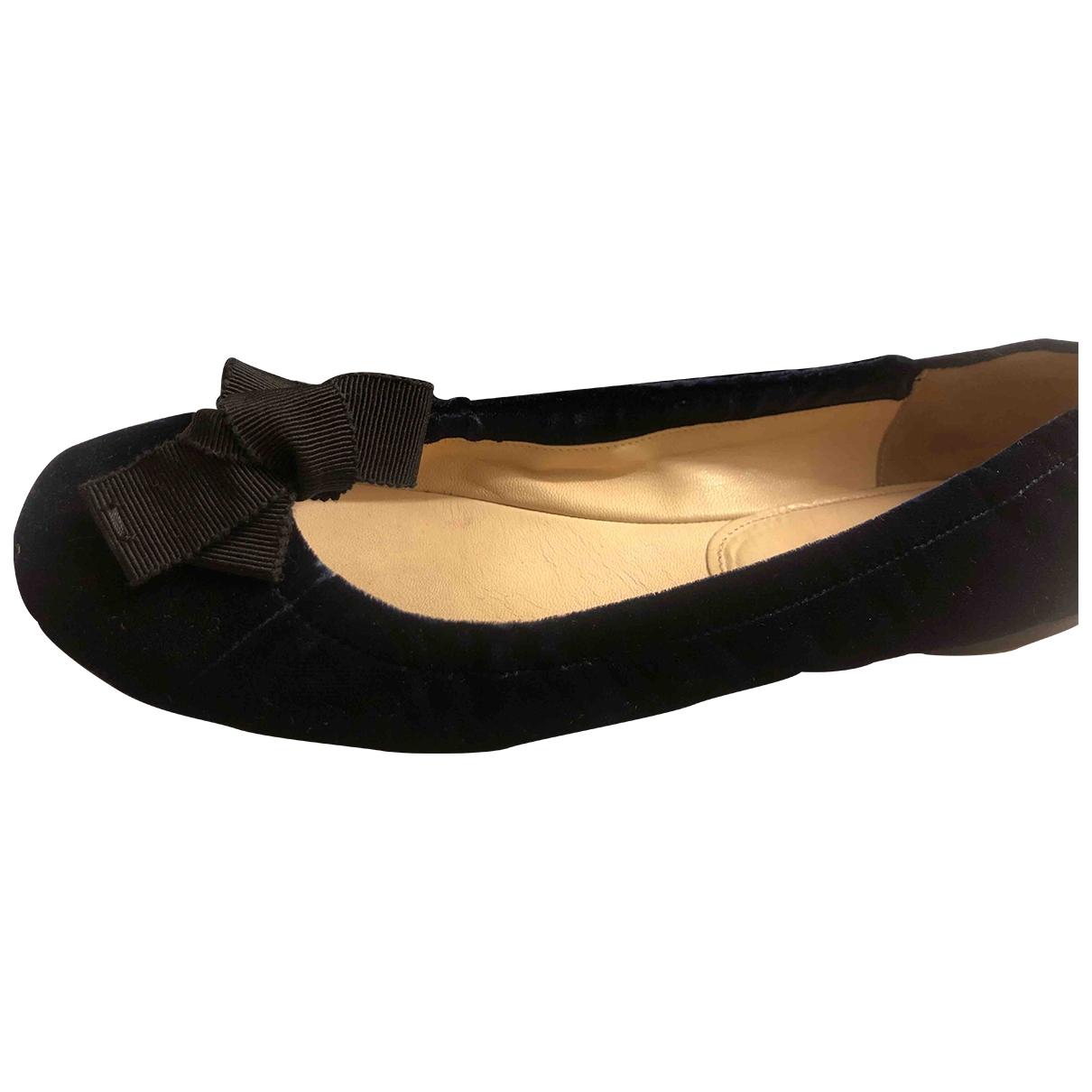 Prada \N Blue Velvet Ballet flats for Women 38 IT