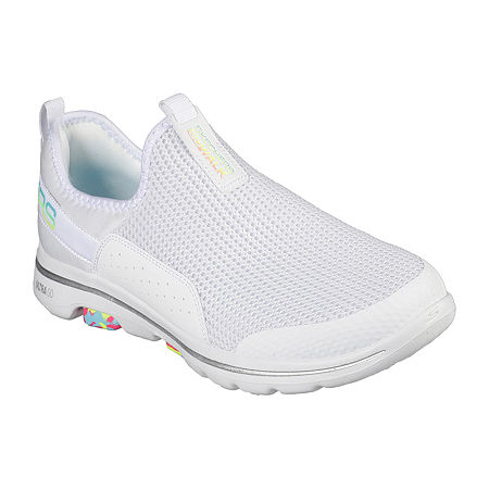 Skechers Go Walk 5 - Parade Womens Walking Shoes, 9 1/2 Medium, White
