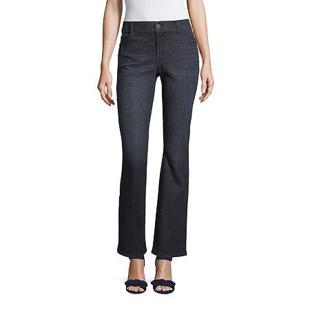 Liz Claiborne Flexi Fit Bootcut Jean - Tall, 8 Tall , Blue